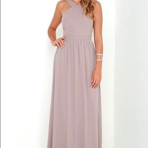 Air of Romance Taupe Maxi Dress Small